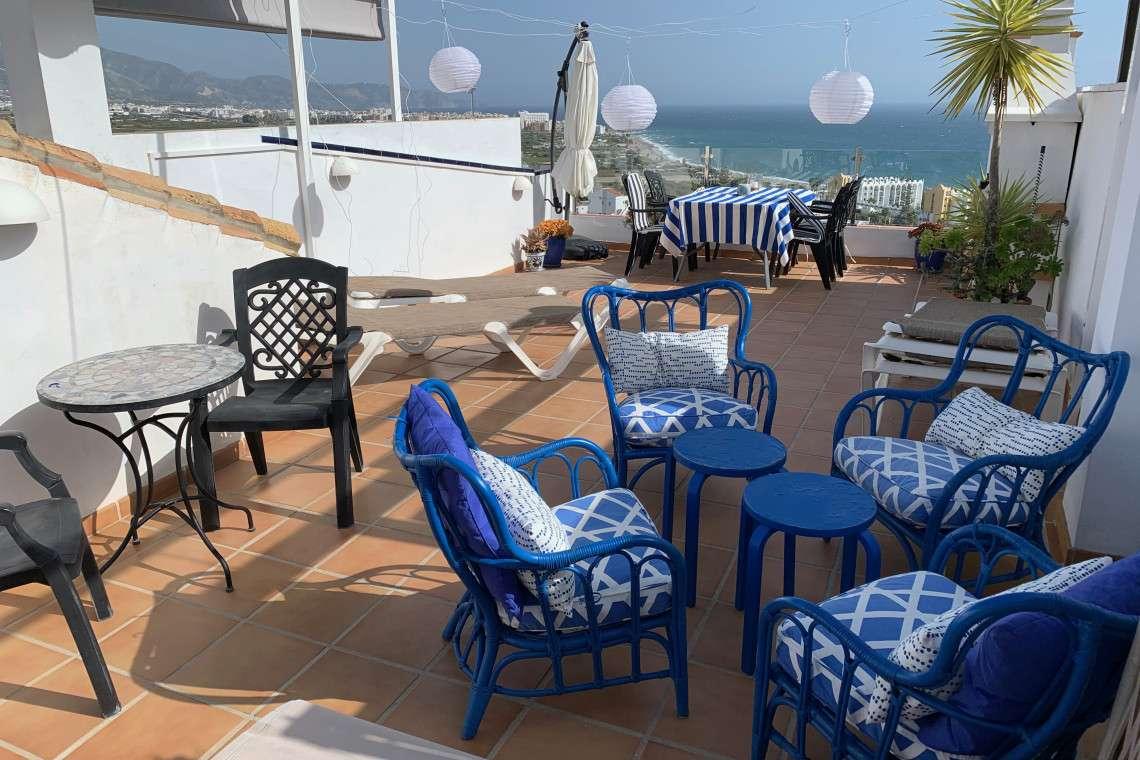 Roof terrace punta Lara sea views plaza Caiz 11