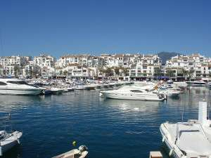 Marbella Puerto Banus jet set resort of Spain